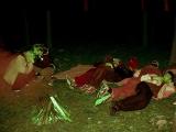Фотография ночного лагеря со спутника-шпиона
