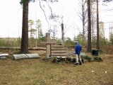 Мемориал на месте кладбища и кирхи в Кирву